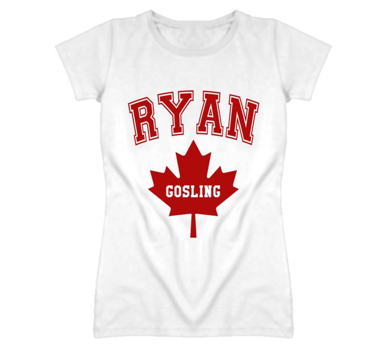 Ryan Gosling Canadian Maple Leaf Graphic T Shirt