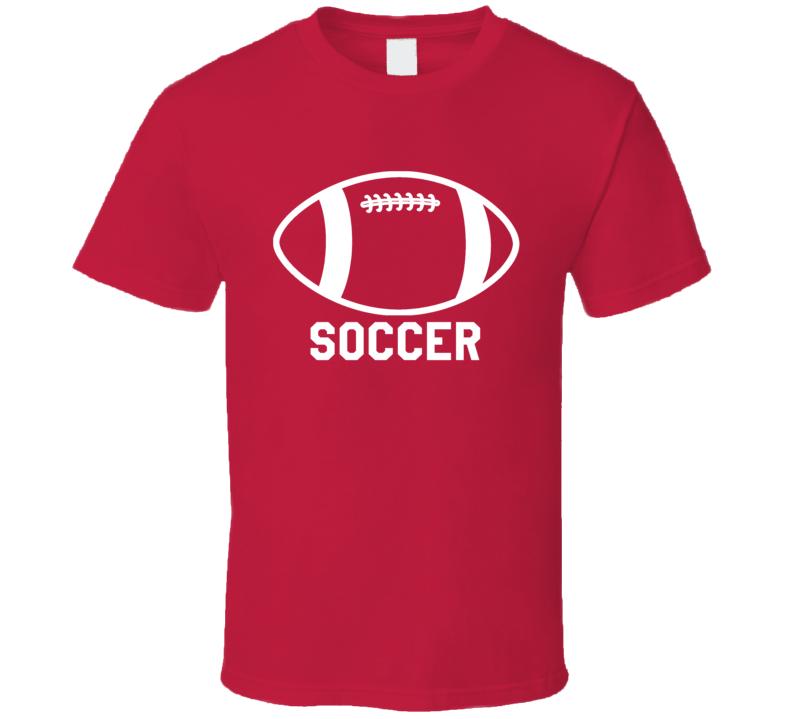 Football Soccer Fun Sports Scrubs Graphic T Shirt