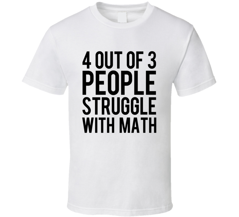 4 Out Of 3 People Struggle With Math Funny Tim Duncan Popular Basketball Graphic T Shirt