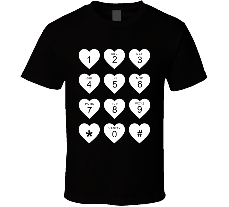 Hearts Phone Keypad Fun Marina And The Diamonds Love Graphic T Shirt