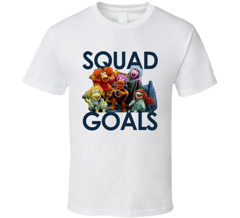 Squad Goals Funny Fraggle Rock Popular Vintage 80s Kids Cartoon TV Show Graphic T Shirt