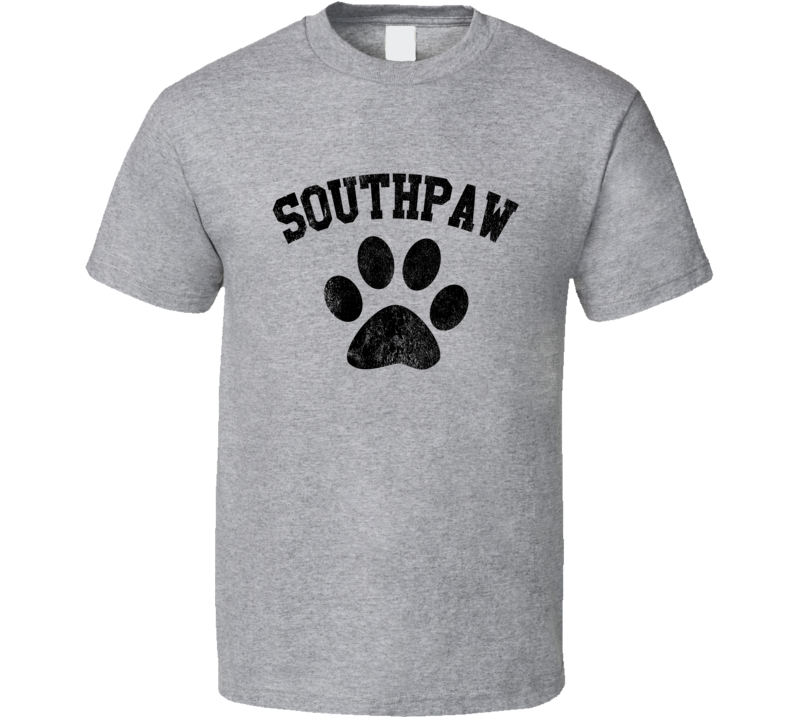 Southpaw Fun Popular Paw Print Graphic Boxing T Shirt