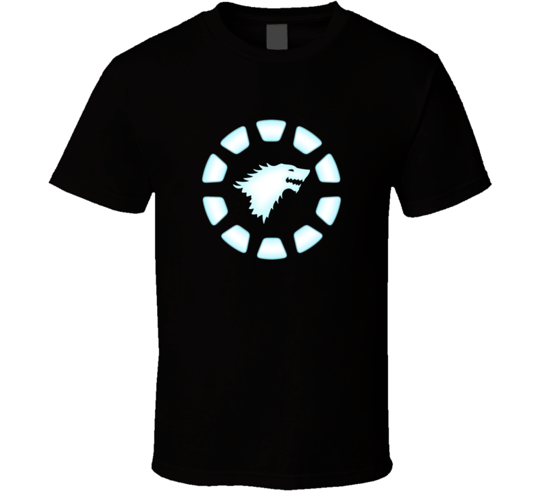 Iron Man Chest Arc Reactor Tony Stark Fun House Of Stark Game Of Thrones Graphic T Shirt