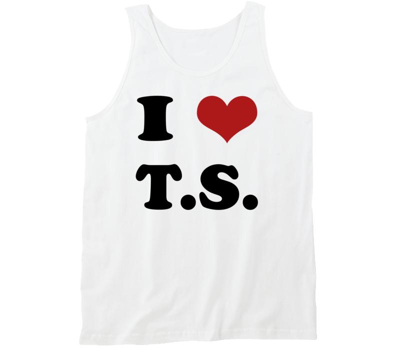 I Heart TS Fun Popular Tom Hiddleston Taylor Swift Celebrity Love Graphic Tank T Shirt
