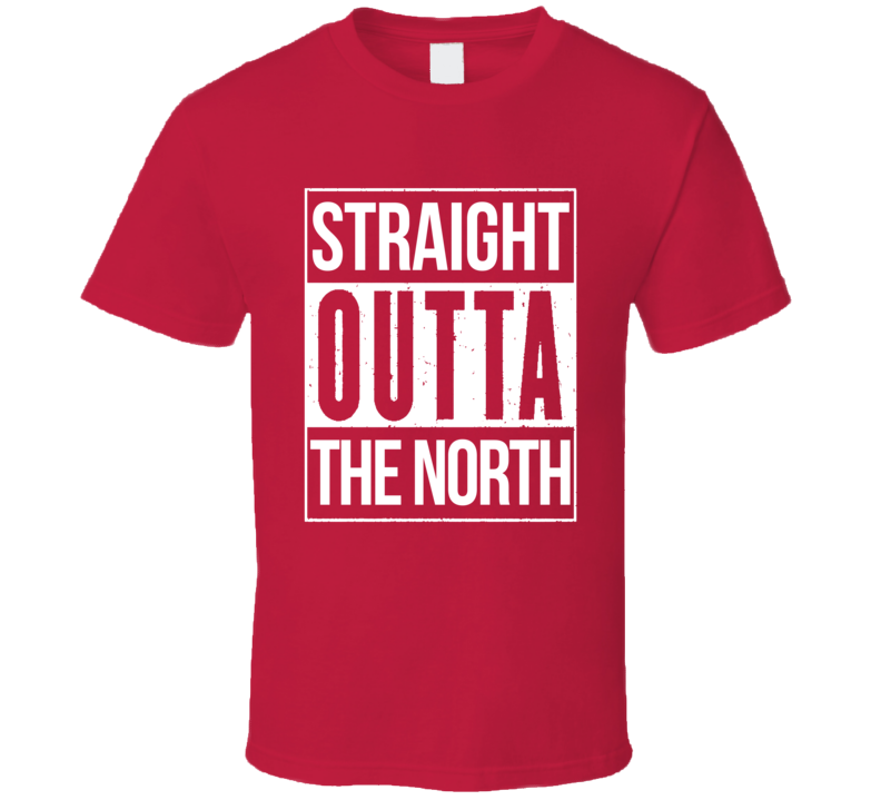 Straight Outta The North Toronto Canada Basketball Baseball Graphic Sports Fan T Shirt
