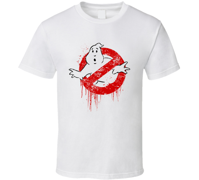 Dripping Ghostbusters Fun Vintage style Distressed Movie Logo T Shirt
