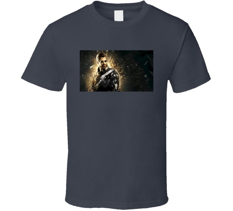 Deus Ex Mankind Divided Fun Video Game Trailer Release Graphic Tee Shirt