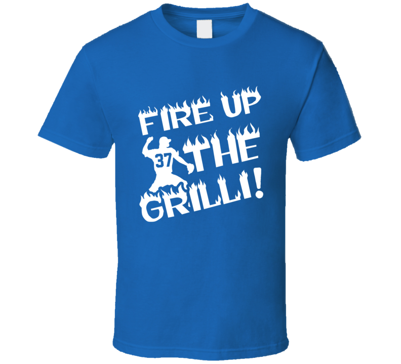 Fire Up The Grilli Funny Toronto Blue Jays Professional Baseball Player Graphic Fan Tee Shirt