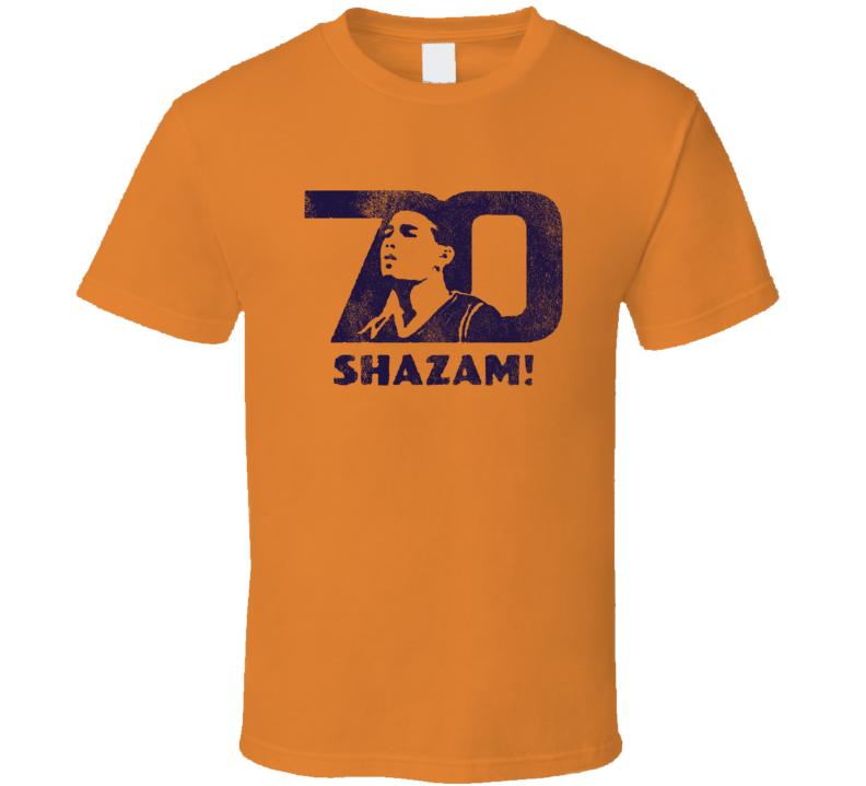 Shazam 70 Devin Booker Phoenix Professional Basketball Player Graphic Fan T Shirt
