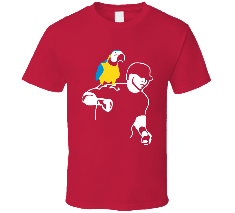 Edwing Edwin Encarnación Parrot Fun Cleveland Baseball Graphic Fan Tee Shirt