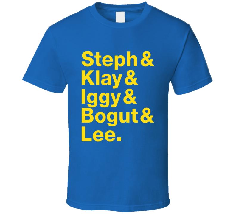 Steph Klay Iggy Bogut Lee Golden State Roll Call Fun Basketball Playoffs Graphic Fan Tee Shirt