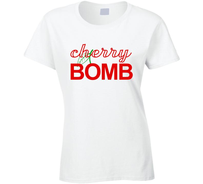 Cherry Bomb Fun Popular Graphic Tee Shirt