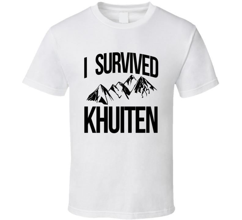 I Survived Khuiten Peak Mongolia China Mountain Climb Travel Cool Sports T Shirt