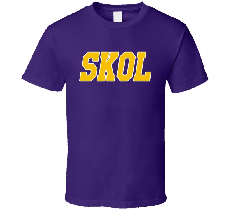 Skol Fun Minnesota Fan Chant Football Tailgate Graphic T Shirt