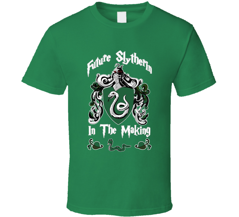 Future Slytherin In The Making Fun Harry Potter Party Maternity Snake Baby Graphic T Shirt
