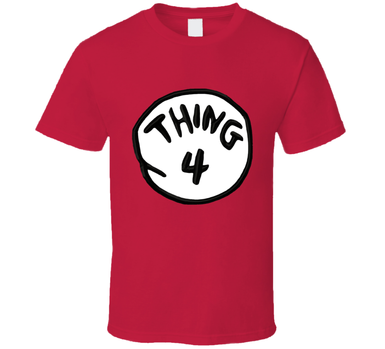 Thing Four Cat In The Hat Dr Suess Halloween Costume Graphic T Shirt