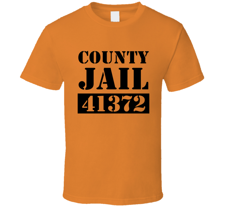 County Jail Inmate Fun Halloween Costume Graphic Party T Shirt
