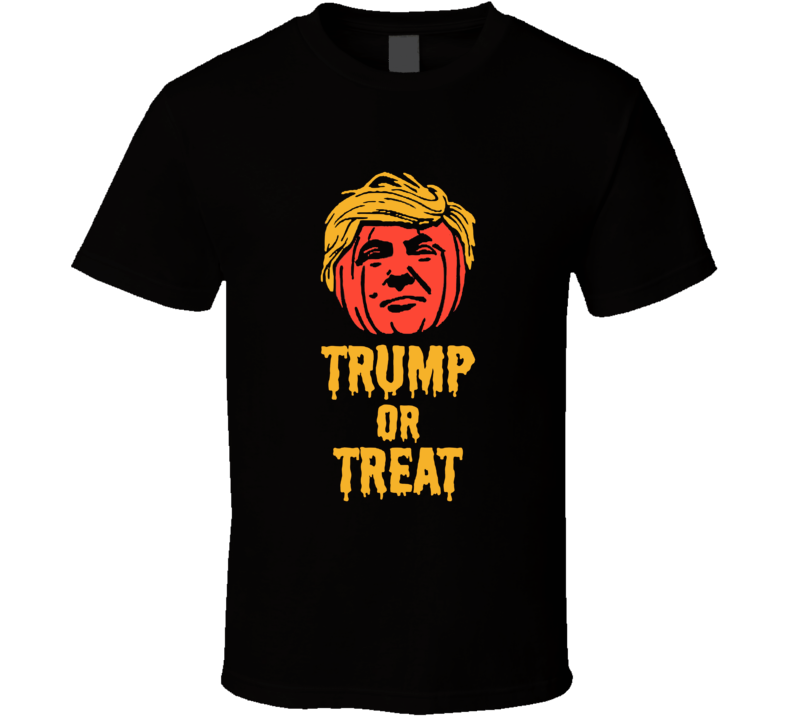 Trump Or Treat Funny Pumpkin President Halloween Costume Graphic T Shirt