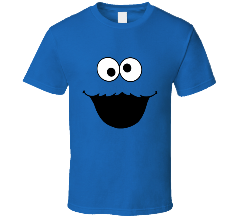 Cookie Monster Face Fun Halloween Costume Graphic T Shirt