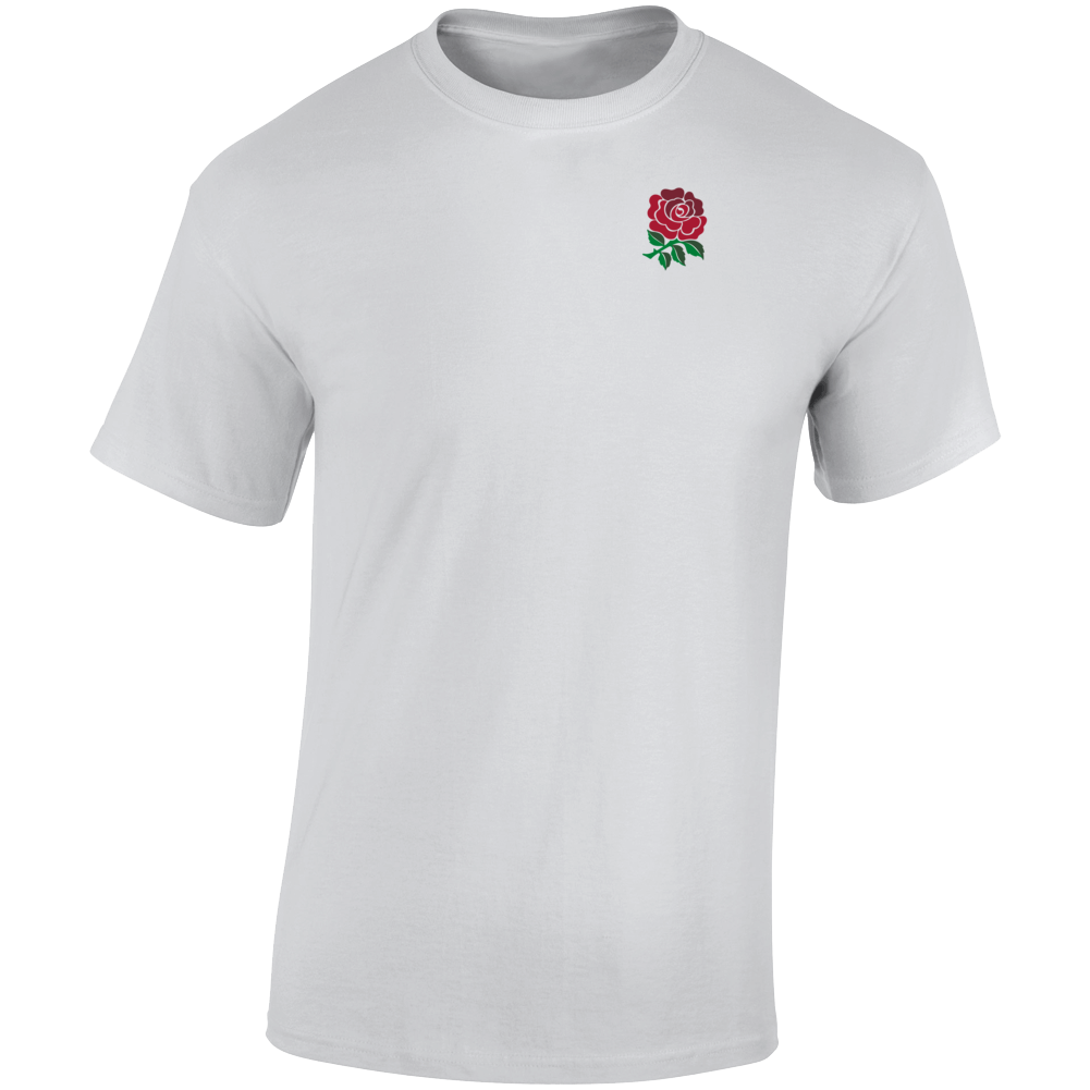 English Rugby Rose Union Graphic  T Shirt