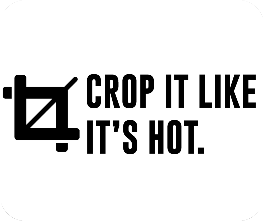 Crop It Like Its Hot Funny Graphic Designer Mousepad