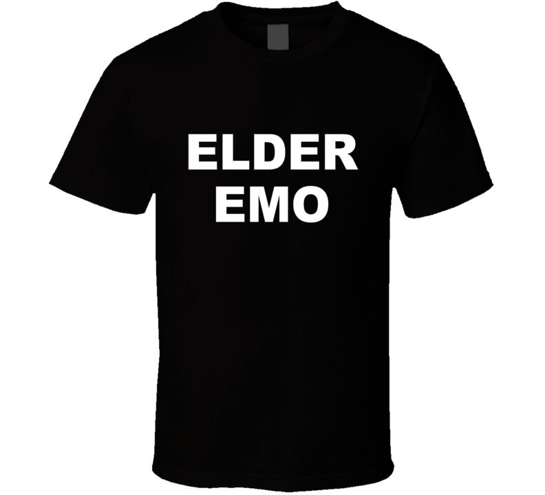 Elder Emo Funny Punk Rock Music Generation Graphic T Shirt