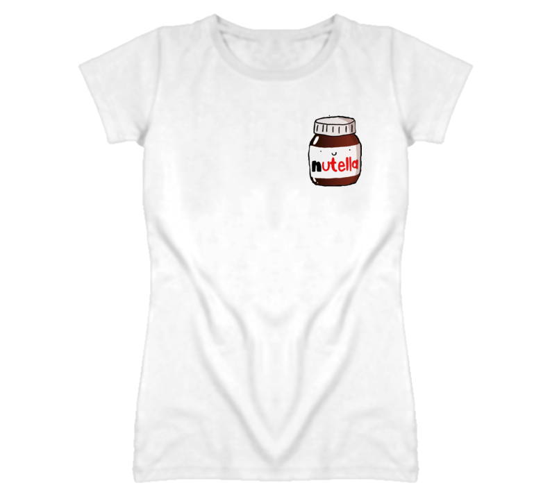 Cute Little Nutella Jar Graphic Tee Shirt