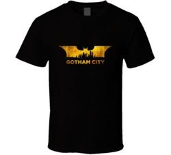 Gotham City Silhouette City Skyline T Shirt