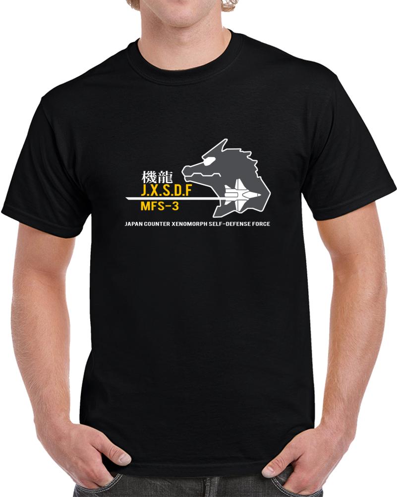 JXSDF Godzilla Defense Force Mecha Godzilla Classic Movie T shirt