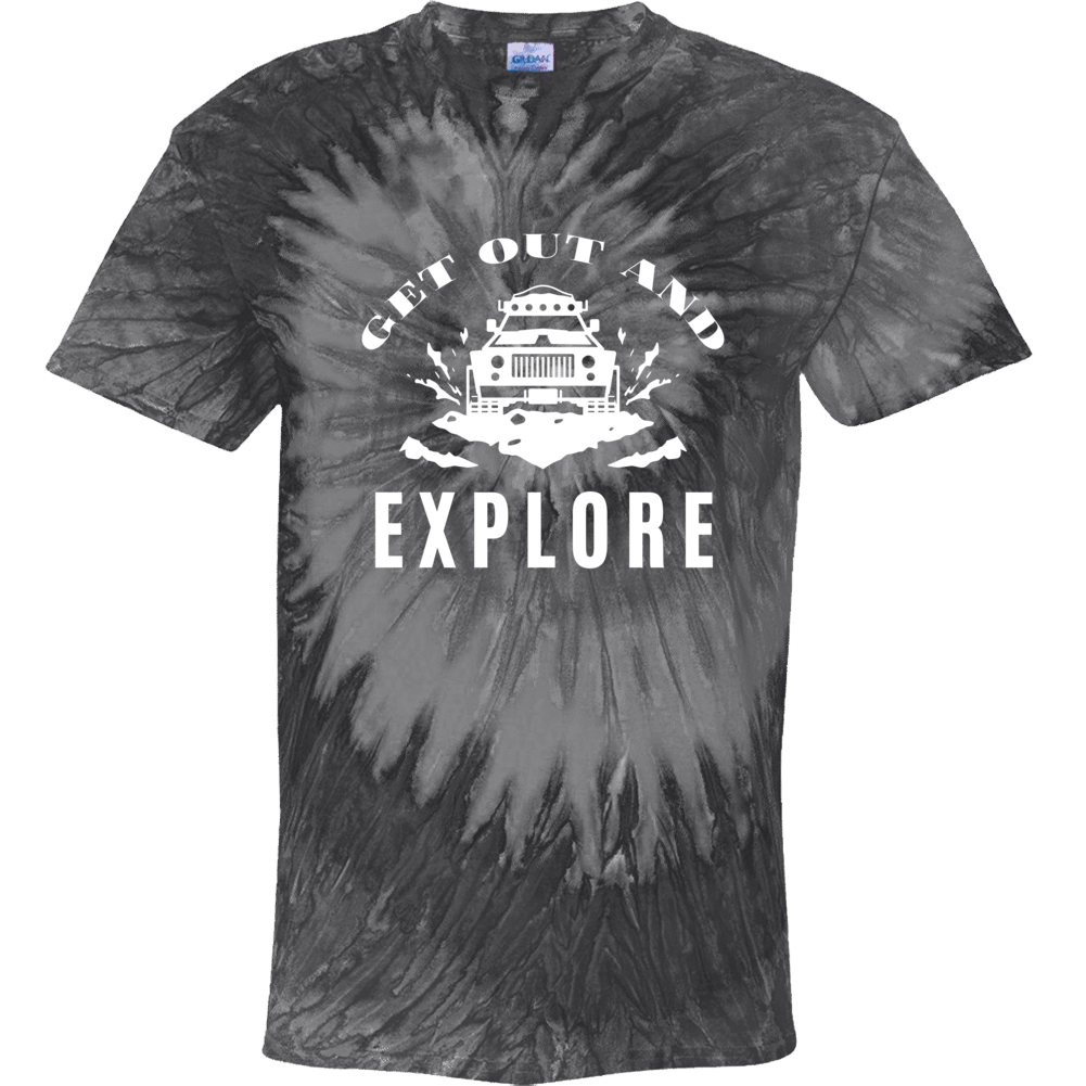 Get Out And Explore Tie Dye T shirt