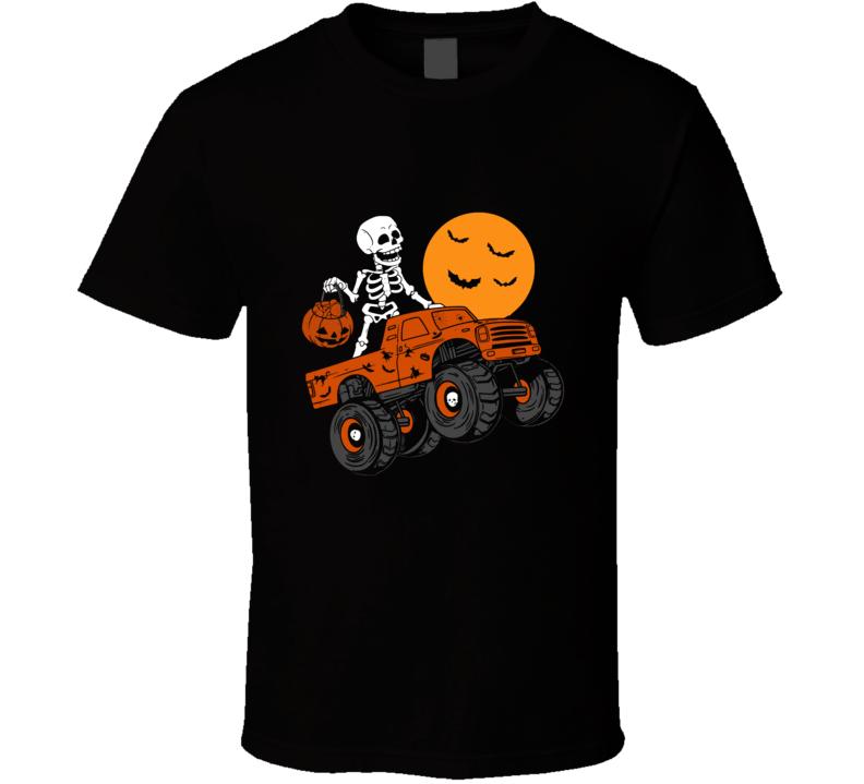 Funny Halloween Pumpkin Skull T Shirt