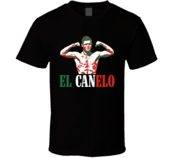"""Saul """"El Canelo"""" Alvarez Mexican Boxing T Shirt"""