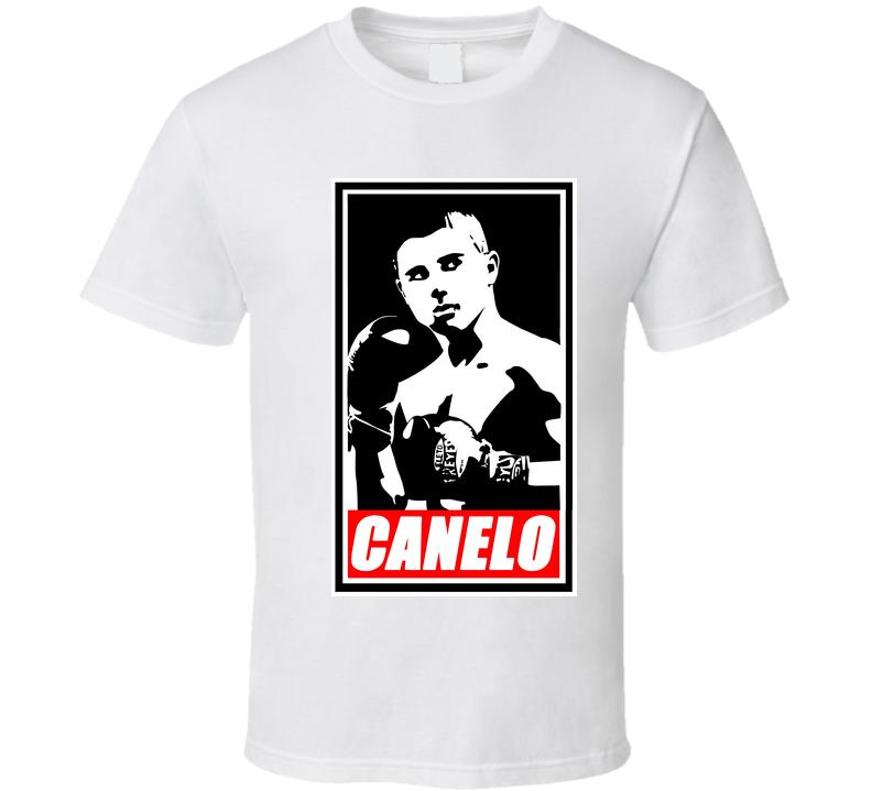 "Saul ""Canelo"" Alvarez White Boxing Tshirt T Shirt"