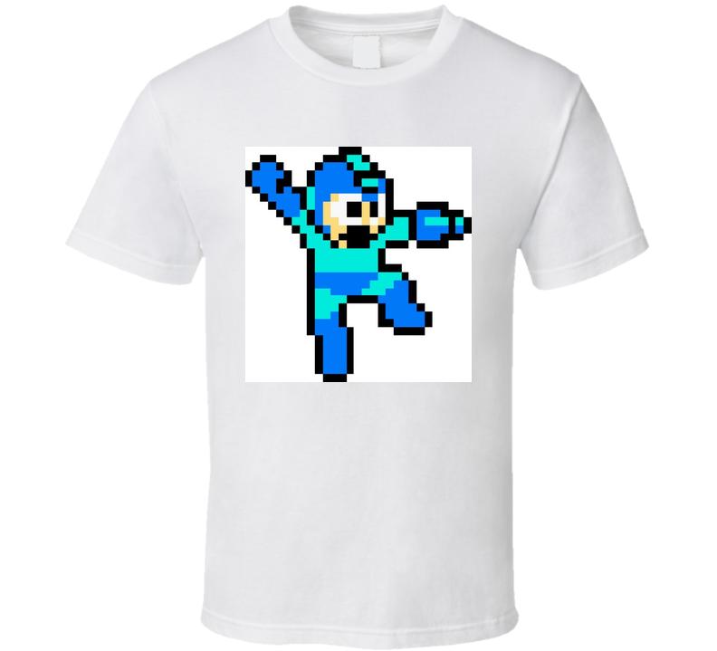 8 Bit Mega Man Tshirt  T Shirt
