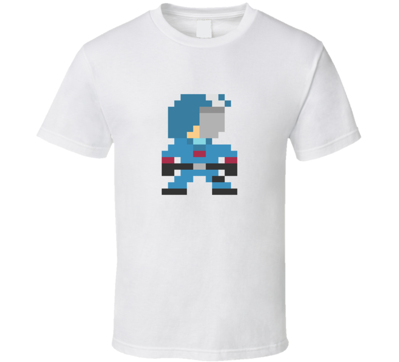 80's Cartoon GI JOE 8 Bit Cobra Commander T Shirt