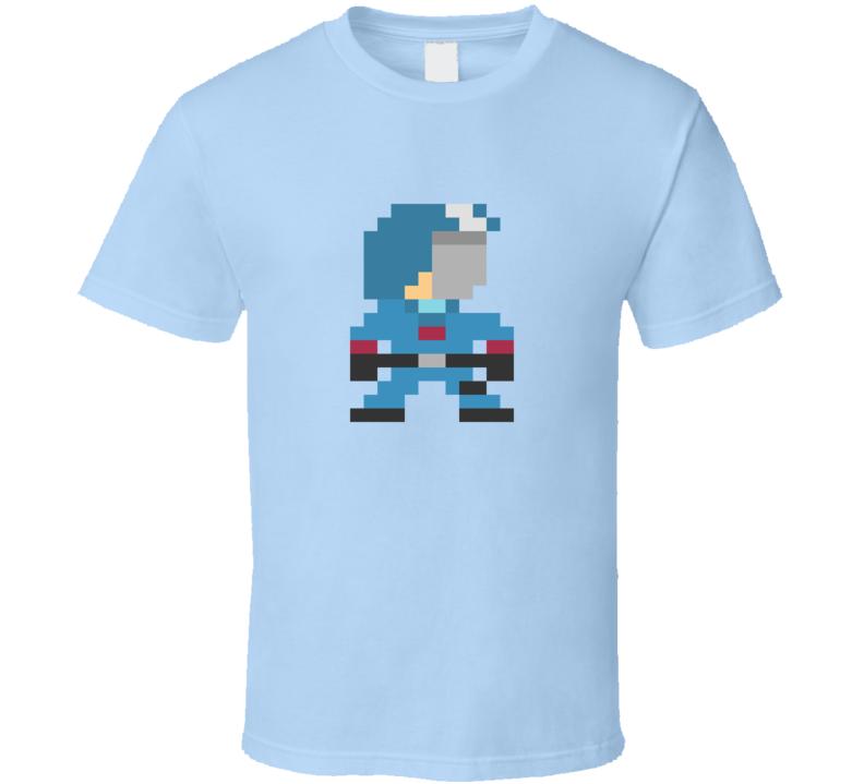 80's Cartoon GI JOE Cobra Commander 8 Bit T Shirt