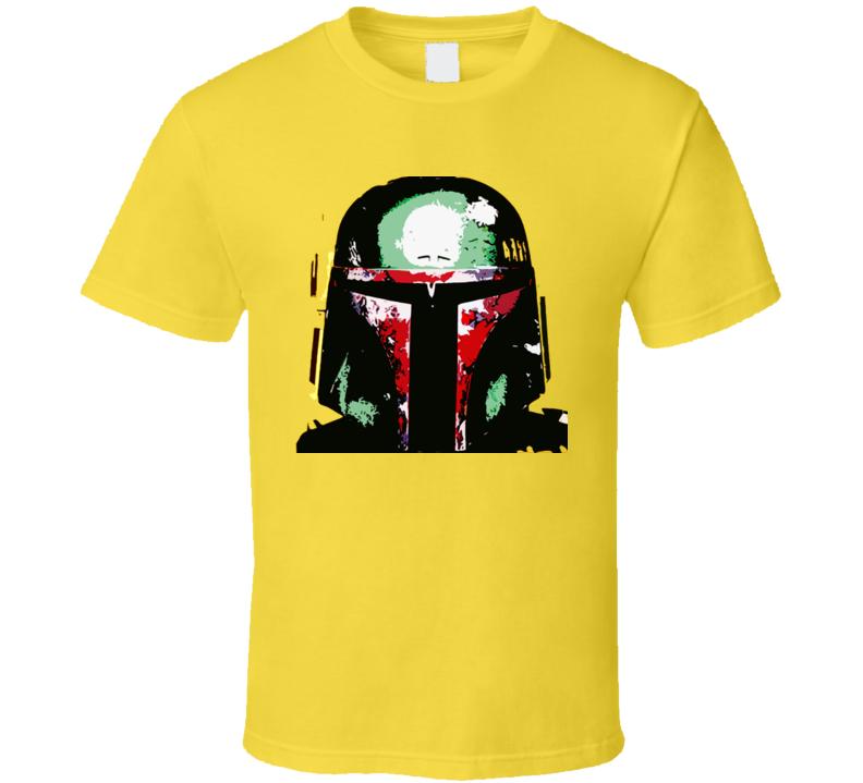 Star Wars Boba Fett Helmet  T Shirt