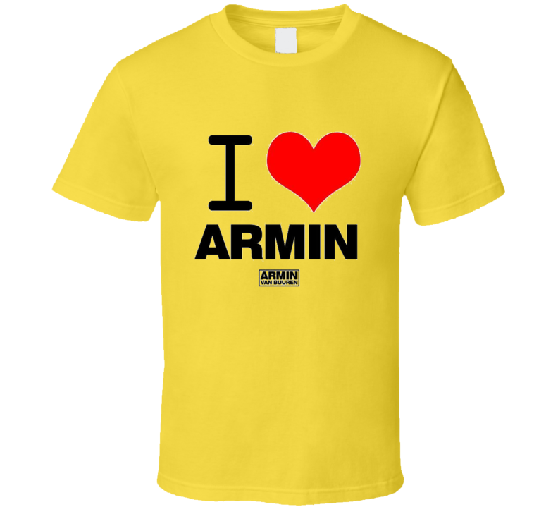 DJ Armin van Buuren I HEART ARMIN YELLOW T Shirt