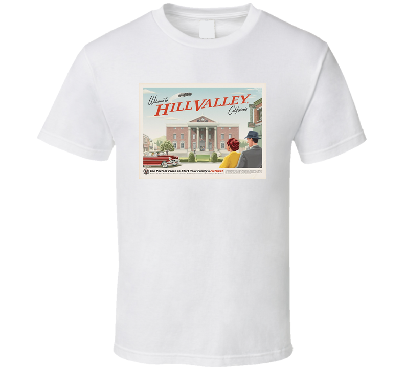 80's Classic Movie Back to the Future Hill Valley T Shirt