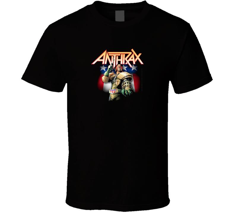 Judge Dredd Anthrax Tshirt