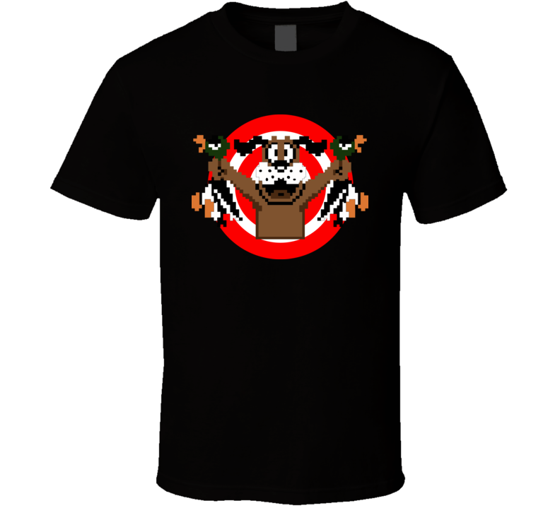 Retro Nintendo Duck Hunt Dog target  T Shirt