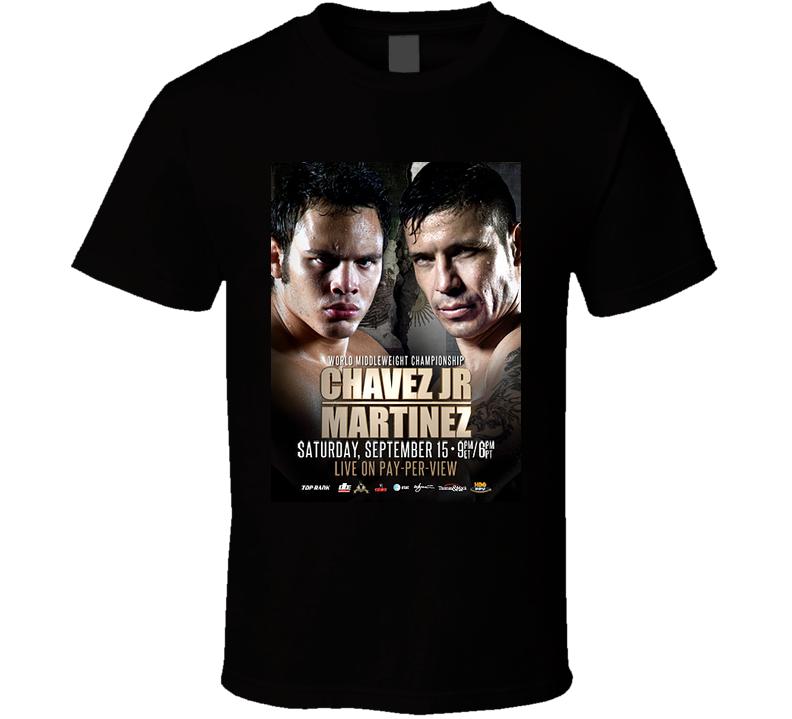 Sergio Martinez Vs Julio Cesar Chavez 09/15 Fight Poster T Shirt