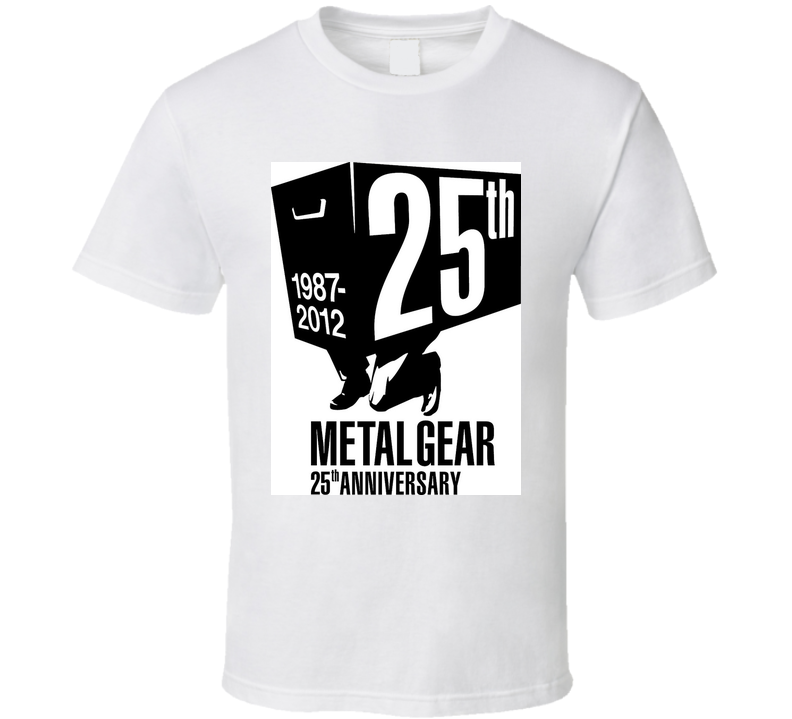 METAL GEAR 25TH ANNIVERSARY VIDEO GAME T Shirt