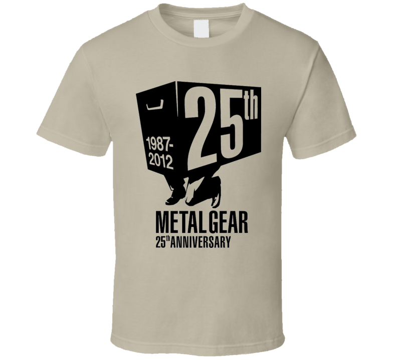 METAL GEAR VIDEO GAME 25TH ANNIVERSARY T Shirt