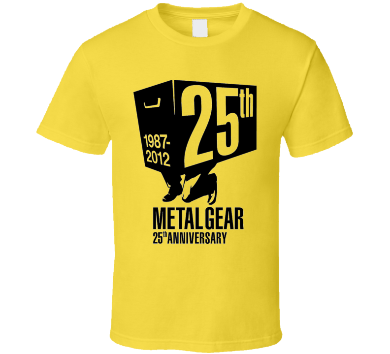 METAL GEAR VIDEO GAME 25TH ANNIVERSARY  T Shirt