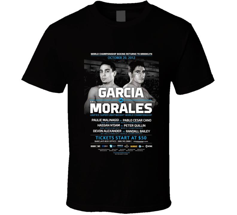 Erik Morales Vs Danny Garcia II Poster Boxing T Shirt