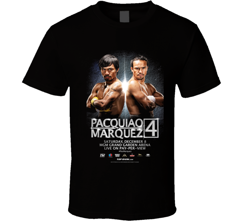 Manny Pacquiao vs Manuel Marquez 4 Fight Poster Boxing  T Shirt