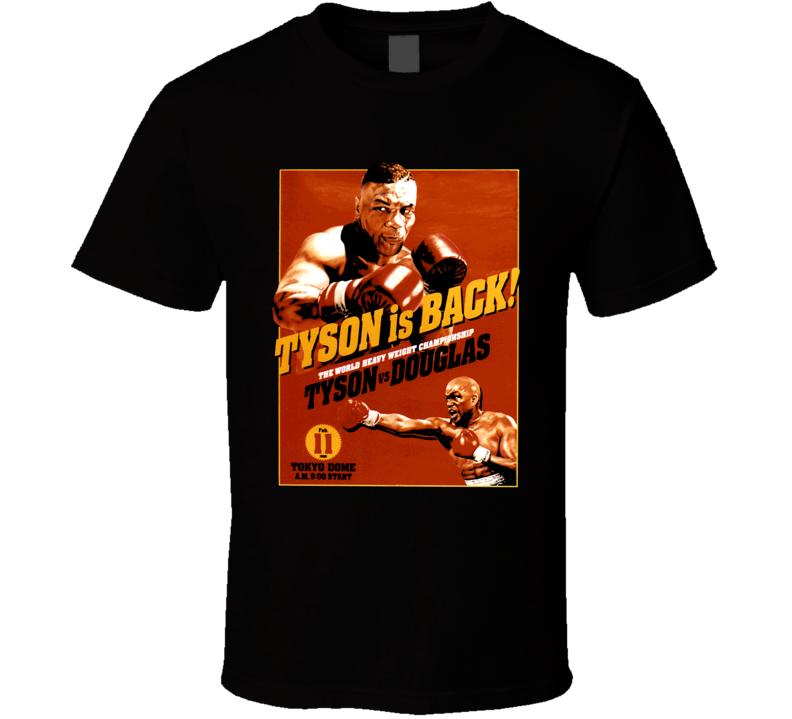 Mike Tyson Vs James Buster Douglas Fight 1990 Fight Poster T Shirt