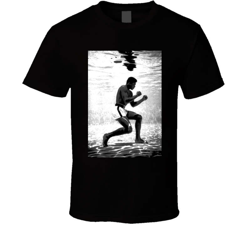 Muhammad Ali Under Water Training Boxing T Shirt