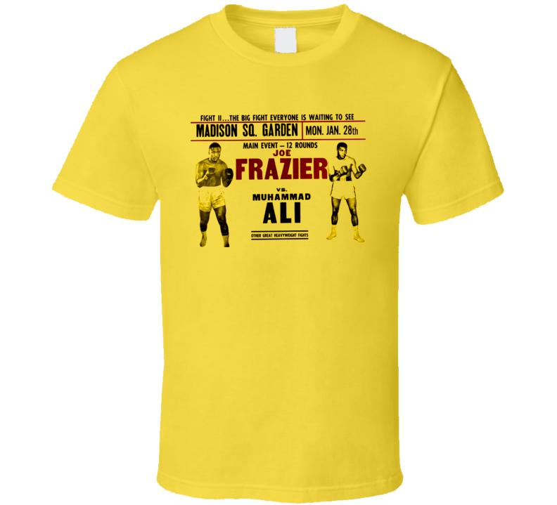 Joe Frazier Vs Muhammad Ali II 1974 T Shirt